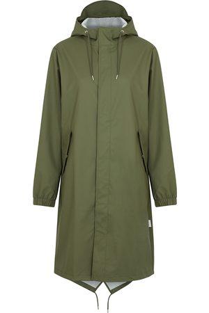 Rains Women Rainwear - Fishtail army rubberised raincoat