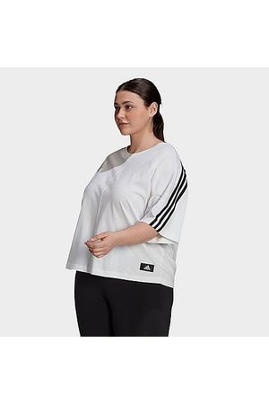 adidas Women's Sportswear Future Icons 3-Stripes T-Shirt (Plus Size) in / Size Extra Large 100% Cotton/Jersey