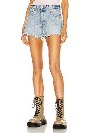 Moussy Bonnie Shorts in Denim-Light