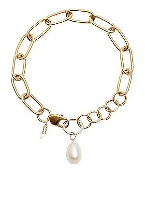LOREN STEWART Women Necklaces - Industrial XXL Chain Pearl Anklet in Metallic