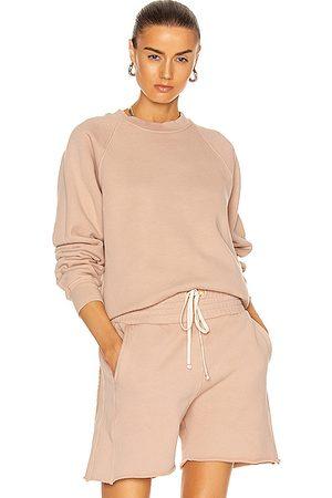 Les Tien Classic Raglan Sweatshirt in Mauve