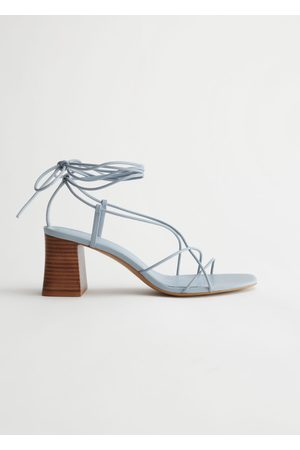 & OTHER STORIES Strappy Block Heel Leather Sandals