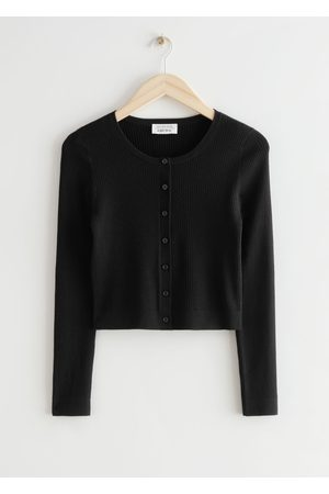 & OTHER STORIES Fitted Cropped Rib Knit Cardigan