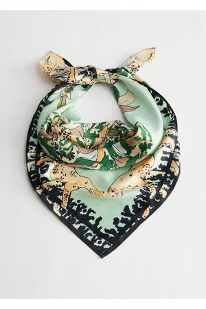 & OTHER STORIES Women Scarves - Tropical Print Satin Scarf