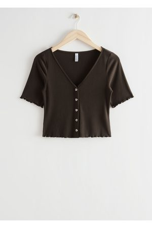 & OTHER STORIES Women Tops - Buttoned Rib Top