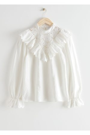 & OTHER STORIES Women Blouses - Ruffled Embroidery Overlay Blouse
