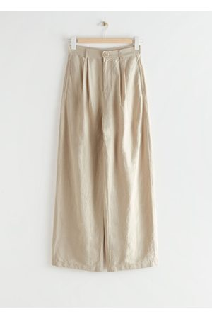 & OTHER STORIES Wide Pleated High Waist Trousers