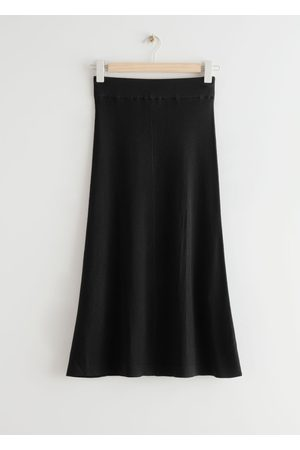 & OTHER STORIES Knitted Midi Rib Skirt
