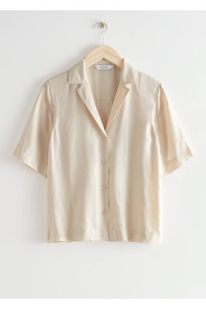 & OTHER STORIES Relaxed Button Up Bowling Shirt