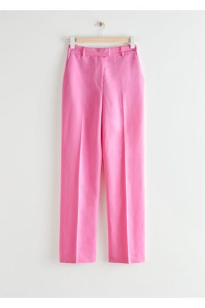 & OTHER STORIES Straight High Waist Press Crease Trousers