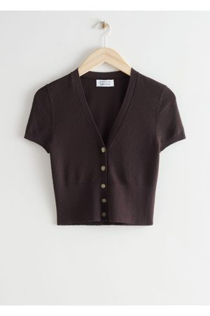 & OTHER STORIES Women Short sleeves - Fitted Short Sleeve Cardigan