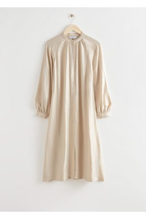 & OTHER STORIES Relaxed Belted Button Up Midi Dress