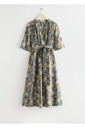 & OTHER STORIES Women Printed Dresses - Printed Relaxed Midi Wrap Dress