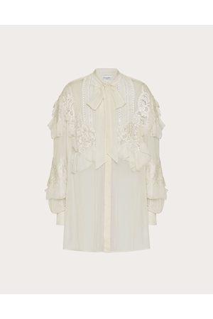 VALENTINO Women Shirts - Chiffon Shirt Women Vanilla Silk 100% 36