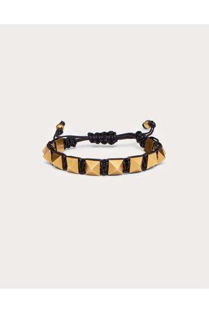 VALENTINO GARAVANI Women Bracelets - Rockstud Bracelet In Waxed Cotton And Metal Women Polyester 100% OneSize
