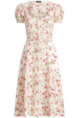 Polo Ralph Lauren Women Printed Dresses - Floral Belted Linen Dress