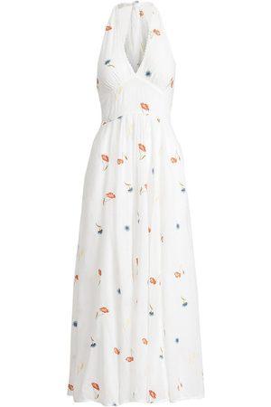 Polo Ralph Lauren Embroidered Cotton Halter Dress