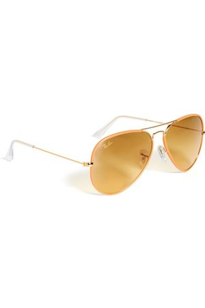 Ray-Ban Full Color Aviator Sunglasses