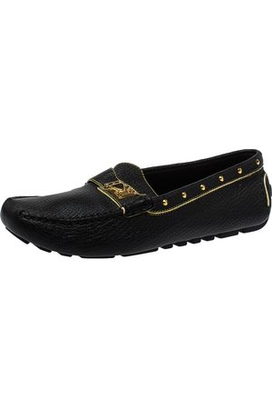 LOUIS VUITTON Leather Lombok Slip On Loafers Size 40.5