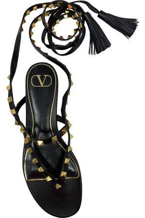 VALENTINO GARAVANI Rockstud Leather Sandals for Women