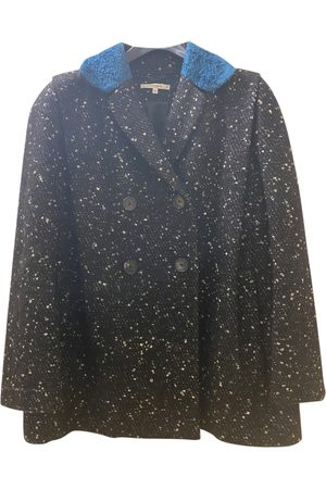 Carven Anthracite Wool Coats
