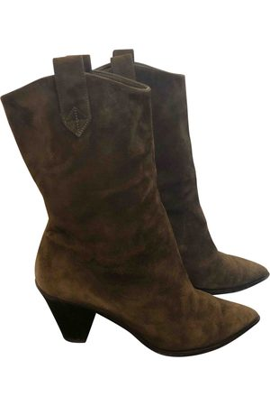 Aquazzura \N Suede Ankle boots for Women