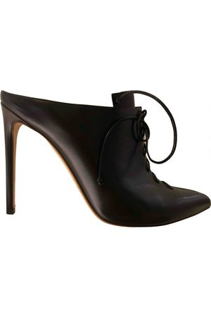 Francesco Russo Women Mules - \N Leather Mules & Clogs for Women