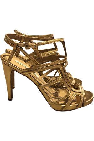 Diane von Furstenberg Women Sandals - \N Leather Sandals for Women