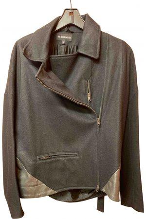 ANN DEMEULEMEESTER Women Leather Jackets - Wool biker jacket