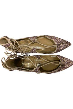 Aquazzura Women Ballerinas - \N Glitter Ballet flats for Women