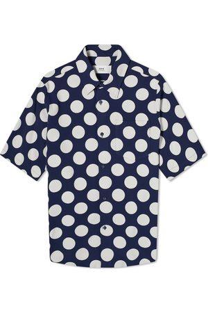 Ami Men Short sleeves - Short Sleeve Polka Dot Shirt
