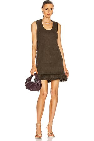 Bottega Veneta Compact Pom Pom Cotton Mesh Dress in