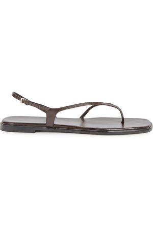 The Row Women Sandals - Constance dark leather sandals