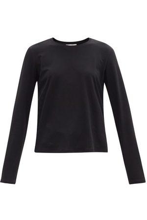 Women Long Sleeve - The Row - Sherman Cotton-jersey Long-sleeved T-shirt - Womens