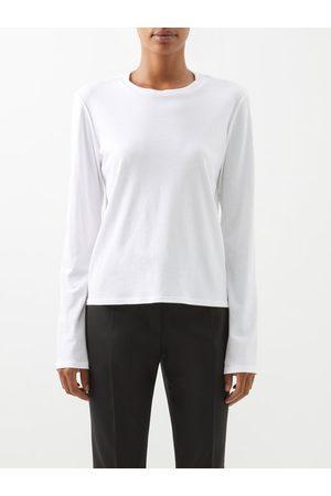 The Row Sherman Cotton-jersey Long-sleeved T-shirt - Womens