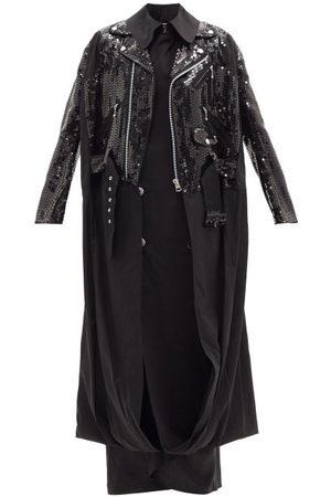 JUNYA WATANABE Sequinned Layered Cotton Trench Coat - Womens