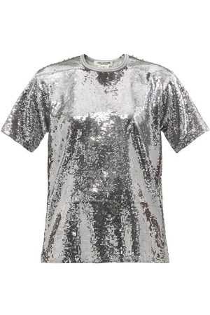 JUNYA WATANABE Women Short Sleeve - Sequinned T-shirt - Womens