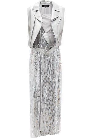 JUNYA WATANABE Biker-vest Sequinned Dress - Womens
