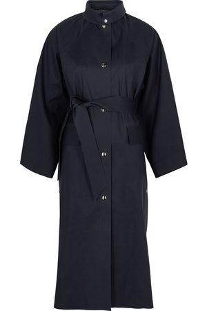 Kassl Editions Kimono Below navy cotton-blend coat