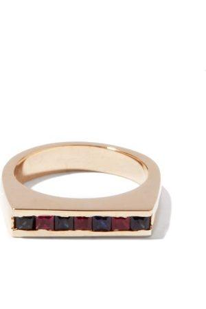 PEARLS BEFORE SWINE Kit Sapphire-ruby & 14kt Signet Ring - Mens