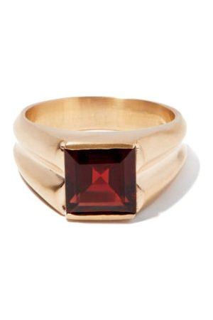 PEARLS BEFORE SWINE Garnet & 14kt Ring - Mens