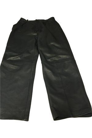 Verra Pelle Women Leather Pants - \N Leather Trousers for Women