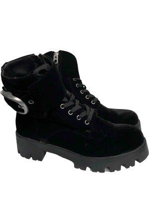 Coach Velvet Ankle Boots