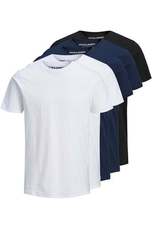 Jack & Jones Men Short Sleeve - Organic Basic 5 Pack XS Black / Pack 2 White / 2 Navy / 1 Black