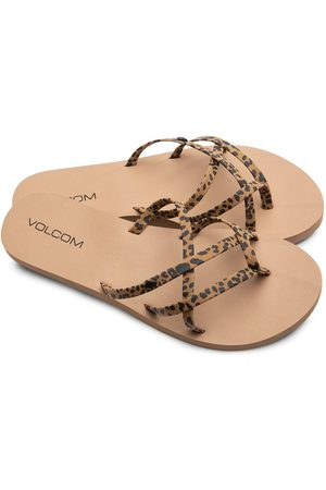 Volcom Women Flip Flops - New School Ii EU 36 Cheetah