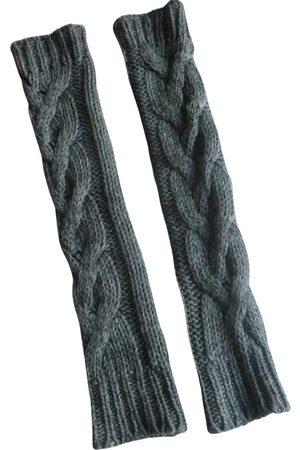 Sisley Grey Wool Gloves