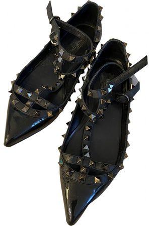 VALENTINO GARAVANI Women Ballerinas - Rockstud Patent leather Ballet flats for Women