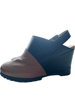 MM6 Women Mules - \N Leather Mules & Clogs for Women