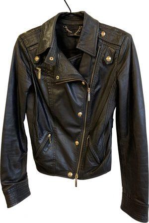 Elisabetta Franchi Women Leather Jackets - \N Leather Leather Jacket for Women