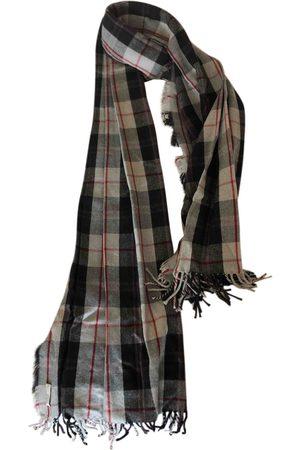 DRIES VAN NOTEN Grey Wool Scarves & Pocket Squares
